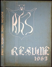 1963 Edition, Ruston High School - Resume Yearbook (Ruston, LA)