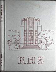 1977 Edition, Ruston High School - Resume Yearbook (Ruston, LA)
