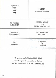 Page 182, 1964 Edition, Springhill High School - Lumberjack Yearbook (Springhill, LA) online yearbook collection