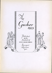 Page 4, 1933 Edition, C E Byrd High School - Gusher Yearbook (Shreveport, LA) online yearbook collection