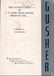Page 5, 1959 Edition, C E Byrd High School - Gusher Yearbook (Shreveport, LA) online yearbook collection