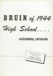 Page 11, 1944 Edition, Bolton High School - Bruin Yearbook (Alexandria, LA) online yearbook collection