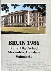 Page 3, 1986 Edition, Bolton High School - Bruin Yearbook (Alexandria, LA) online yearbook collection