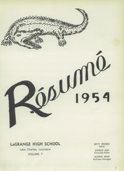 Page 7, 1954 Edition, LaGrange High School - Resume Yearbook (Lake Charles, LA) online yearbook collection