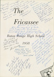 Page 5, 1958 Edition, Baton Rouge High School - Fricassee Yearbook (Baton Rouge, LA) online yearbook collection
