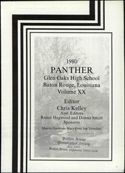 Page 7, 1980 Edition, Glen Oaks High School - Panther Yearbook (Baton Rouge, LA) online yearbook collection