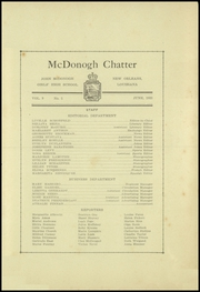 Page 3, 1933 Edition, John McDonogh Senior High School - Onward Yearbook (New Orleans, LA) online yearbook collection