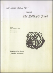 Page 5, 1955 Edition, Jennings High School - Bulldogs Growl Yearbook (Jennings, LA) online yearbook collection