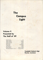 Page 5, 1969 Edition, Vandebilt Catholic High School - Campus Light Yearbook (Houma, LA) online yearbook collection