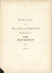 Page 5, 1947 Edition, Menard Memorial High School - Menardian Yearbook (Alexandria, LA) online yearbook collection