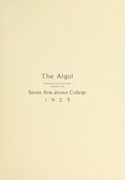 Page 5, 1923 Edition, Santa Ana Junior College - Del Ano Yearbook (Santa Ana, CA) online yearbook collection