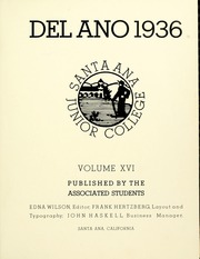 Page 9, 1936 Edition, Santa Ana Junior College - Del Ano Yearbook (Santa Ana, CA) online yearbook collection