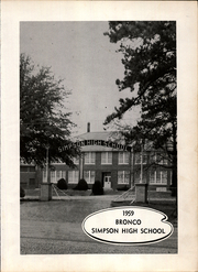 Page 3, 1959 Edition, Simpson High School - Bronco Yearbook (Simpson, LA) online yearbook collection