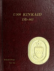 1983 Edition, Kinkaid (DD 965) - Naval Cruise Book