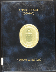 1993 Edition, Kinkaid (DD 965) - Naval Cruise Book