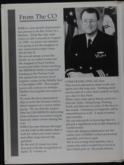 Page 8, 1991 Edition, Kiska (AE 35) - Naval Cruise Book online yearbook collection