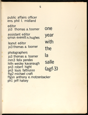 Page 11, 1974 Edition, La Salle (AGF 3) - Naval Cruise Book online yearbook collection