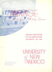 Page 6, 1937 Edition, University of New Mexico - Mirage Yearbook (Albuquerque, NM) online yearbook collection