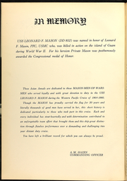 Page 6, 1966 Edition, Leonard Mason (DD 852) - Naval Cruise Book online yearbook collection