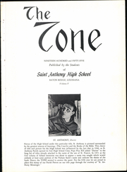 Page 5, 1955 Edition, St Anthony High School - Tone Yearbook (Baton Rouge, LA) online yearbook collection