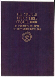 1923 Edition, Western Illinois University - Sequel Yearbook (Macomb, IL)