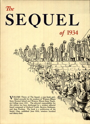 Page 8, 1934 Edition, Western Illinois University - Sequel Yearbook (Macomb, IL) online yearbook collection