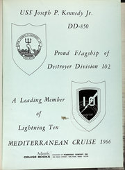 Page 5, 1966 Edition, Joseph Kennedy (DD 850) - Naval Cruise Book online yearbook collection