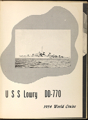 Page 5, 1954 Edition, Lowry (DD 770) - Naval Cruise Book online yearbook collection