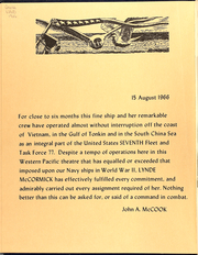 Page 4, 1966 Edition, Lynde McCormick (DDG 8) - Naval Cruise Book online yearbook collection