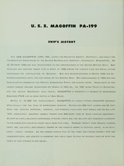 Page 8, 1961 Edition, Magoffin (APA 199) - Naval Cruise Book online yearbook collection