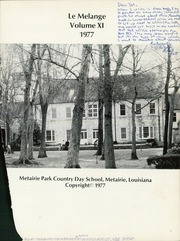 Page 5, 1977 Edition, Metairie Park Country Day School - Le Melange Yearbook (Metairie Park, LA) online yearbook collection