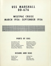 Page 5, 1956 Edition, Marshall (DD 676) - Naval Cruise Book online yearbook collection
