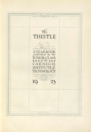 Page 7, 1923 Edition, Carnegie Mellon University - Thistle Yearbook (Pittsburgh, PA) online yearbook collection