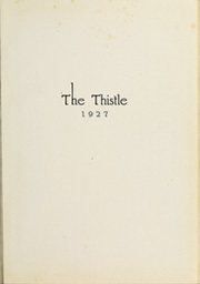 Page 5, 1927 Edition, Carnegie Mellon University - Thistle Yearbook (Pittsburgh, PA) online yearbook collection