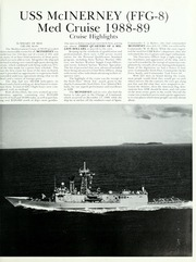 Page 5, 1989 Edition, McInerney (FFG 8) - Naval Cruise Book online yearbook collection