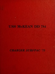Page 1, 1973 Edition, McKean (DD 784) - Naval Cruise Book online yearbook collection