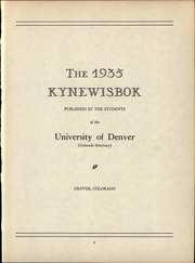 Page 7, 1935 Edition, University of Denver - Kynewisbok Yearbook (Denver, CO) online yearbook collection