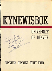 Page 7, 1944 Edition, University of Denver - Kynewisbok Yearbook (Denver, CO) online yearbook collection