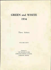 Page 9, 1934 Edition, Gorham Normal School - Green and White Yearbook (Gorham, ME) online yearbook collection