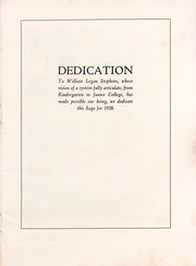 Page 8, 1928 Edition, Long Beach City College - Saga Yearbook (Long Beach, CA) online yearbook collection