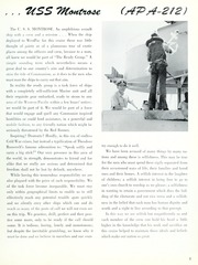 Page 7, 1962 Edition, Montrose (APA 212) - Naval Cruise Book online yearbook collection