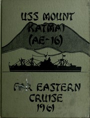 Page 1, 1961 Edition, Mount Katmai (AE 16) - Naval Cruise Book online yearbook collection