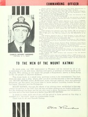 Page 8, 1961 Edition, Mount Katmai (AE 16) - Naval Cruise Book online yearbook collection