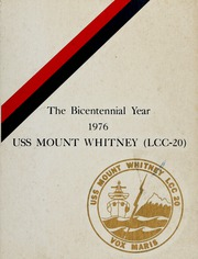 Page 1, 1976 Edition, Mount Whitney (LCC 20) - Naval Cruise Book online yearbook collection
