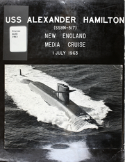 Page 1, 1963 Edition, Alexander Hamilton (SSBN 517) - Naval Cruise Book online yearbook collection