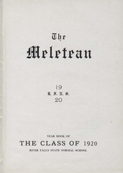Page 5, 1920 Edition, University of Wisconsin River Falls - Meletean Yearbook (River Falls, WI) online yearbook collection