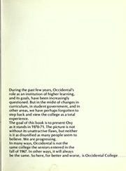 Page 7, 1971 Edition, Occidental College - La Encina Yearbook (Los Angeles, CA) online yearbook collection