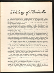 Page 11, 1951 Edition, Bairoko (CVE 115) - Naval Cruise Book online yearbook collection