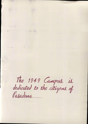 Page 15, 1949 Edition, Pasadena City College - Pageant Yearbook (Pasadena, CA) online yearbook collection