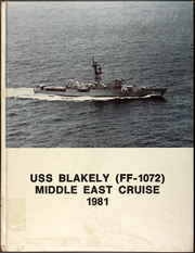 1981 Edition, Blakely (FF 1072) - Naval Cruise Book